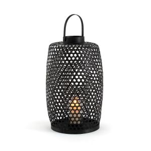 Lanterne en bambou H65 cm Lumi Noir AMPM