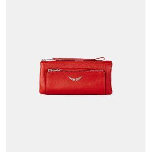 Pochette Etoile cuir Rouge Zadig&Voltaire