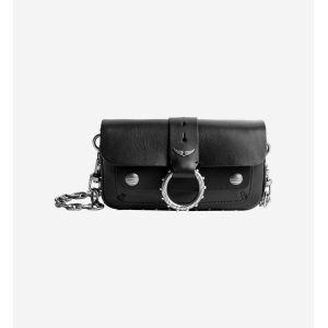 Sac pochette Kate Wallet  Zadig&Voltaire x Kate Moss en cuir Noir Zadig&Voltaire