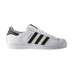 Baskets en cuir Superstar Blanc Adidas Originals