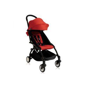 Poussette Yoyo+ cadre noir et  6+ rouge Rouge Babyzen