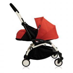 Poussette complète new Yoyo+ naissance 0-6 mois, châssis blanc Rouge