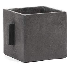 Cache-pot en béton Noir
