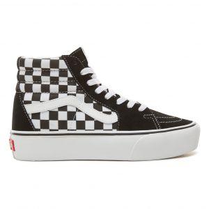 Baskets Checkerboard SK8-Hi Platform 2.0 - Collection Femme - Noir