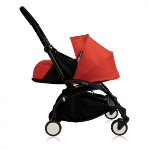 Poussette complète new Yoyo+ naissance 0-6 mois, châssis noir Rouge