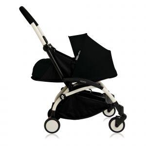 Poussette complète new Yoyo+ naissance 0-6 mois, châssis blanc Noir