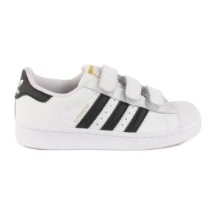 Baskets Cuir Velcro Superstar