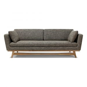 Canapé 3 places 210 - Piêtement chêne, tissu chiné Beige