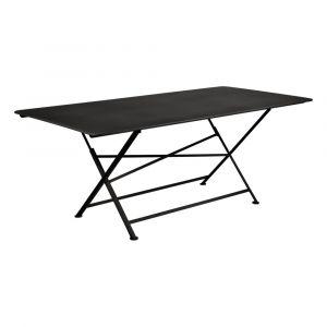 Table rectangulaire pliante Cargo 190x90 cm en acier Réglisse