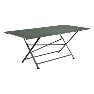 Table rectangulaire pliante Cargo 190x90 cm en acier Romarin