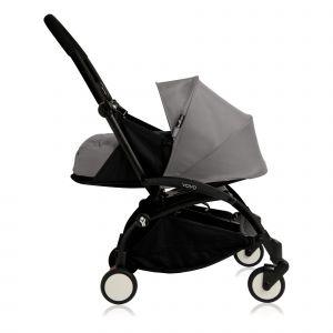 Poussette complète new Yoyo+ naissance 0-6 mois, châssis noir Gris