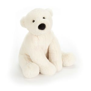 Peluche ours polaire assis Perry Blanc