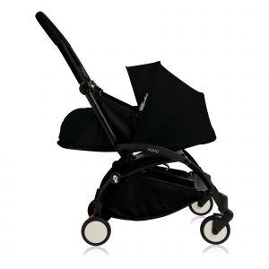 Poussette complète new Yoyo+ naissance 0-6 mois, châssis noir Noir