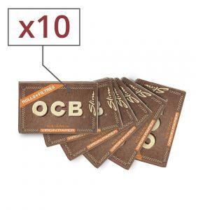 papier à rouler en rouleau ocb slim virgin avec tips x10