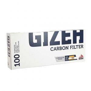 boite de 100 tubes gizeh silver tip charbon avec filtre x 1
