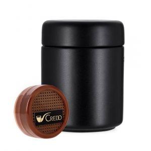 pot tabac noir en céramique et humidificateur rondo