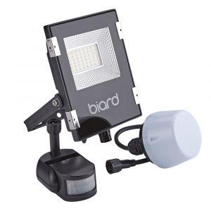 Biard Projecteur LED Noir 20 Watts avec détecteur IP65