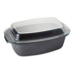 Cocotte rectangulaire et couvercle revêtement Dur comme la pierre 32 cm Mathon