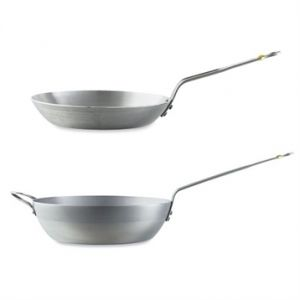 Lot poêle 28 cm et poêle paysanne 32 cm Minéral B élément De Buyer