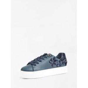 Sneaker Marxin Detail Bijou Python Bleu foncé - Taille 38