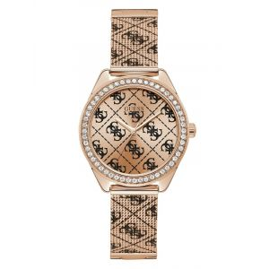 Montre Analogique 4G Logo All Over Rose Or - Taille T/U