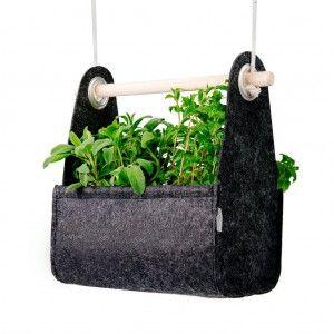 Jardinière swing black equa