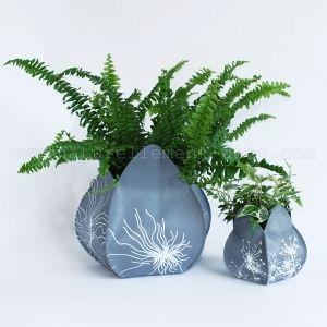 Cache pot écologique Jardipo gris Brindi - Art Terre