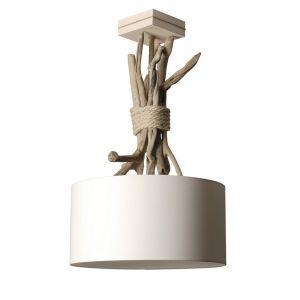 Lampe à suspendre bois flotté Coc'Art