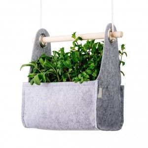 Jardinière swing grey equa