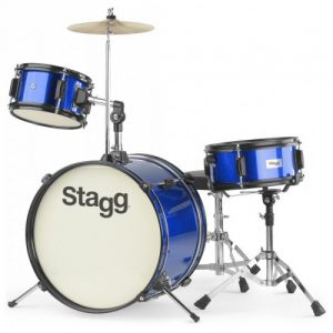 STAGG BATTERIE JUNIOR 3 FUTS 16 BLEU