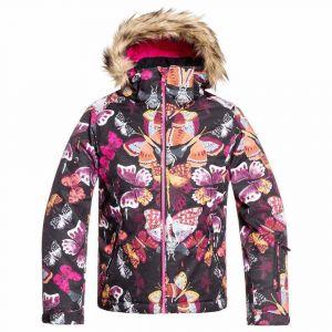 Vestes Roxy Jet Ski - True Black Butterfly - Taille L