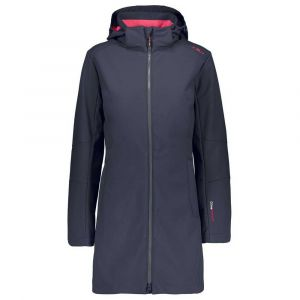 Cmp Coat Zip Hood XXS Anthracite / Coral - Anthracite / Coral - Taille XXS