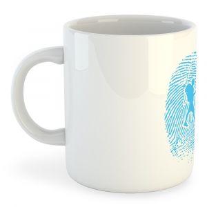 Articles de cuisine Kruskis Tasse Hiker Fingerprint - White - Taille 325 ml (11 oz)