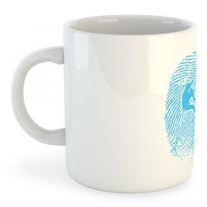 Articles de cuisine Kruskis Tasse Climber Fingerprint - White - Taille 325 ml (11 oz)