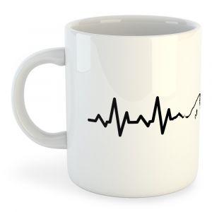 Articles de cuisine Kruskis Tasse Mountain Heartbeat - White - Taille 325 ml (11 oz)
