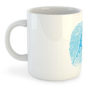 Articles de cuisine Kruskis Tasse Runner Fingerprint - White - Taille 325 ml (11 oz)