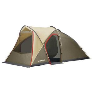 Tentes Trangoworld Family Tent - Beige / Khaki / Anthracite Red - Taille 5 Places