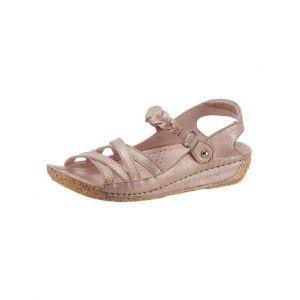 Gemini : sandales avec semelle de marche PU antidérapante aspect liège - Gemini - Rose - Taille 40