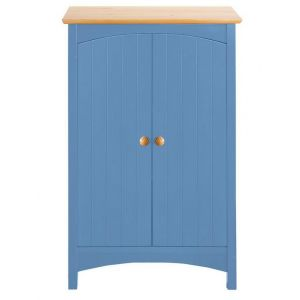 Meuble bas de salle de bain en bois coloré - helline home - Bleu