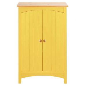 Meuble bas de salle de bain en bois coloré - helline home - Jaune