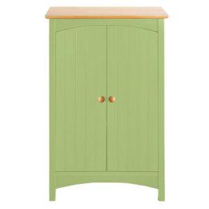 Meuble bas de salle de bain en bois coloré - helline home - Vert