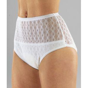 Culotte en coton étanche pour femme tissu crocheté