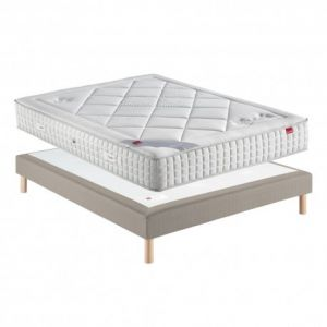 Ensemble Epeda VELOURS Sommier Confort Moelleux 100x190