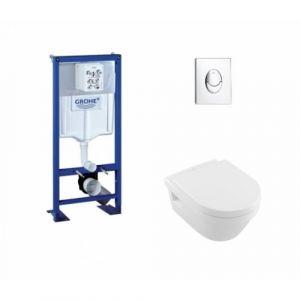 Pack Grohe Rapid SL + Cuvette Architectura D Villeroy + Plaque Chromée - GROHE