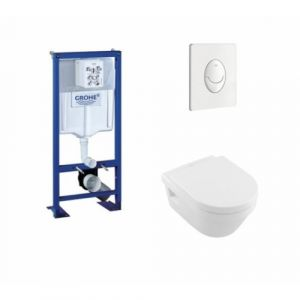 Pack Grohe Rapid SL + Cuvette Architectura D Villeroy + Plaque Blanche - GROHE