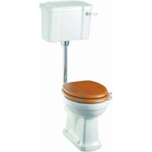 WC BURLINGTON avec levier de réservoir en céramique Taille basse 520 - Abattant frein de chute Chêne - BURLINGTON