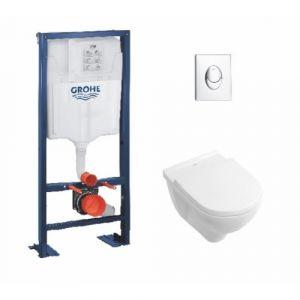 Pack Grohe Rapid SL + Cuvette O'Novo VILLEROY + Plaque Chromée - GROHE