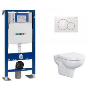 Pack WC Geberit UP320 + Cuvette sans bride Velvet+ plaque Sigma Blanche - GEBERIT