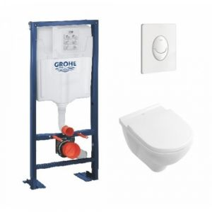 Pack Grohe Rapid SL + Cuvette O'Novo VILLEROY + Plaque Blanche - GROHE