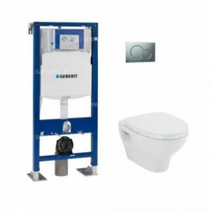 Pack WC Geberit UP320 +  cuvette POP2+ plaque Sigma Chromé Brillante  - GEBERIT